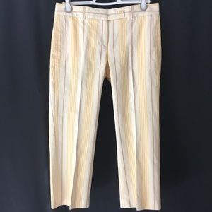 Theory Hansel Butter Combo Striped Pants 6